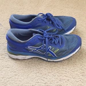 ASICS Gel-Kayano 24  Size 8.5  Blue Running Shoes